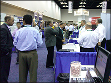 Crowd image of show floor activity during an Expo show.